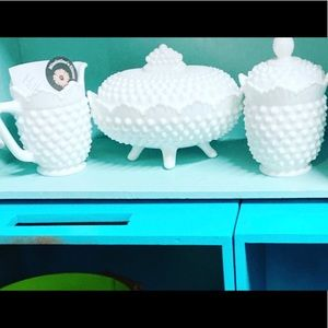 Vintage milk glass coffee set